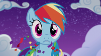 Rainbow Dash in stunned confusion S6E7