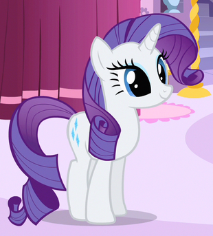 Rarity est un poney licorne femelle et l'un des personnages principaux de My Little Pony : Les amies, c'est magique, elle est la sœur ainée de Sweetie Belle. Rarity travaille comme créatrice de mode et est couturière à sa propre boutique à Poneyville, la Boutique Carrousel. Elle représente l'élément de générosité.