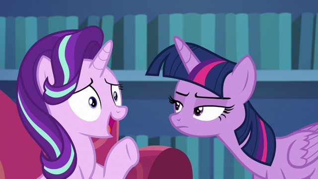 "File:Starlight Glimmer ""I bet if I had reversed"" S6E21.png"