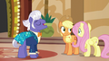AJ and Fluttershy impressed by Gladmane's values S6E20.png