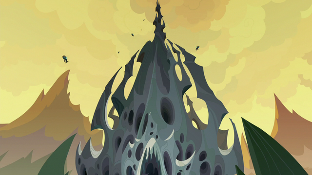 File:Bottom-to-top angle of changeling hive exterior S6E25.png