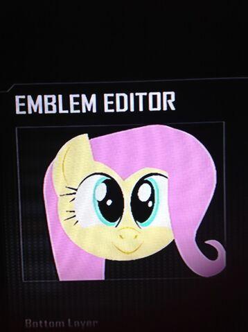 File:FANMADE Fluttershy Black Ops 2 Emblem -2.jpg