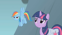 Sheepish Twilight and exasperated Dash S01E07