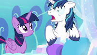 Shining Armor in a sudden panic S6E1