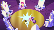 Delivery pony approaching the Mane Six EG2