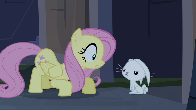 File:Fluttershy smothering Angel S4E03.png