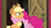 Pinkie Pie hugging Applejack S4E09.png