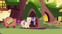 Twilight before slamming house door in Fluttershy's face S1E01
