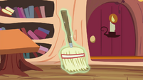 A broom about to be levitated S4E15