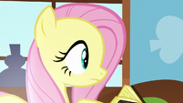 Fluttershy notices a shimmering light S5E23