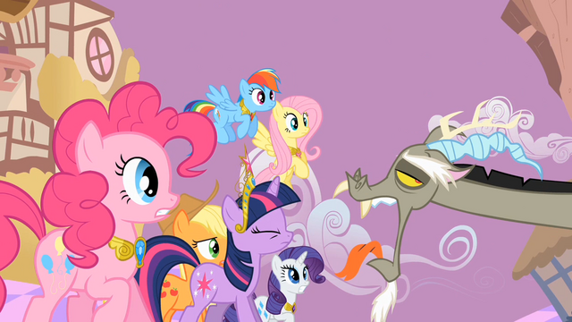 File:Main ponies Discord Annoyance S2E2.png