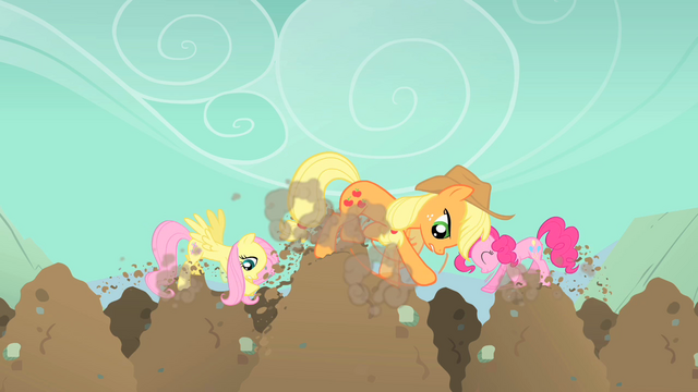 File:Pinkie Pie Fluttershy Applejack diggy hole S01E19.png