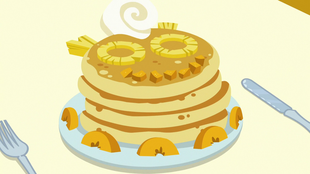 File:Plate of peach and pineapple pancakes S7E10.png