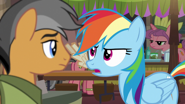"File:Rainbow Dash ""obviously, her wing wasn't"" S6E13.png"