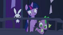 Twilight, Spike & Angel looking down S04E03