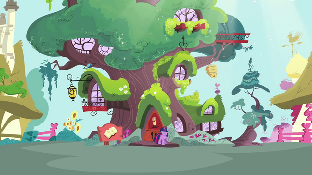 File:Twilight standing in front her library S3E13.png
