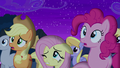 Fluttershy cracks one eye open S6E6.png