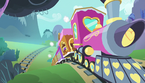 Friendship Express speeding down the tracks S5E1