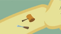Mallet and chisel cutie mark S2E6