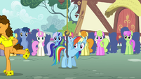 Rainbow getting pulled by a hook S4E12
