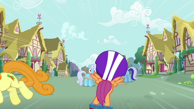 File:Shoeshine staring at Scootaloo from a distance S3E6.png