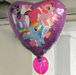 Twilight, Pinkie, and Rainbow Dash balloon