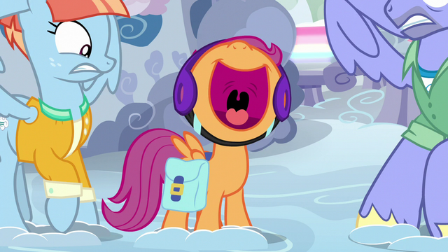 File:Scootaloo squealing between Bow and Windy S7E7.png