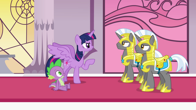 File:Twilight giving commands to Royal Guards S4E01.png