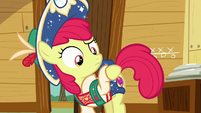 Apple Bloom looks at her cutie mark S6E4