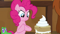 Pinkie Pie rubbing her hooves together S7E11