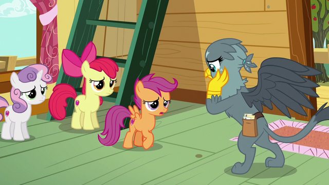 File:Scootaloo telling Gabby what Twilight said S6E19.png