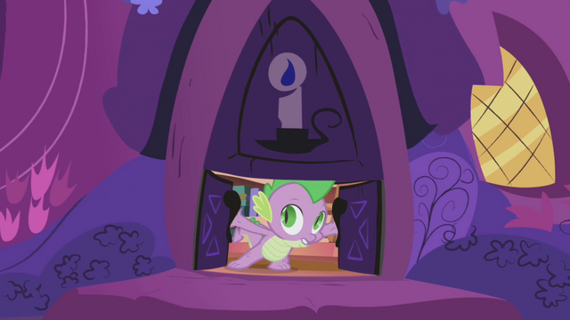 File:Spike locking the library doors S1E03.png