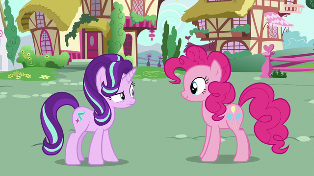 File:Starlight Glimmer looking confused at Pinkie Pie S6E25.png