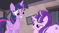Starlight Glimmer regards Twilight's wings