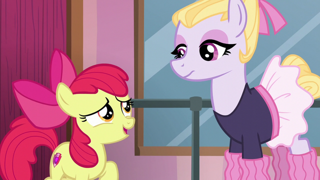 File:Apple Bloom asks to enroll in Hoofer Steps' class S6E4.png