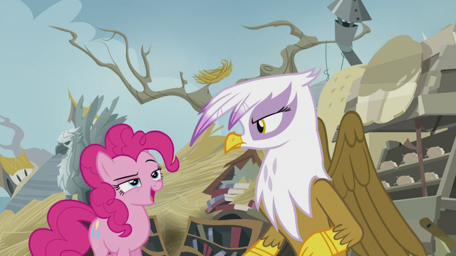 "File:Pinkie ""I saw that, Gilda!"" S5E8.png"