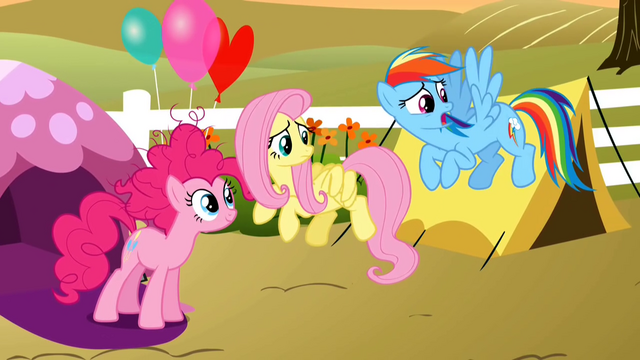 File:Pinkie Pie, Fluttershy and Rainbow Dash S2E15.png