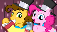 Pinkie Pie and Cheese together S4E12
