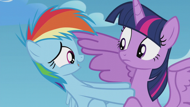 File:Rainbow Dash pushing away from Twilight S5E25.png