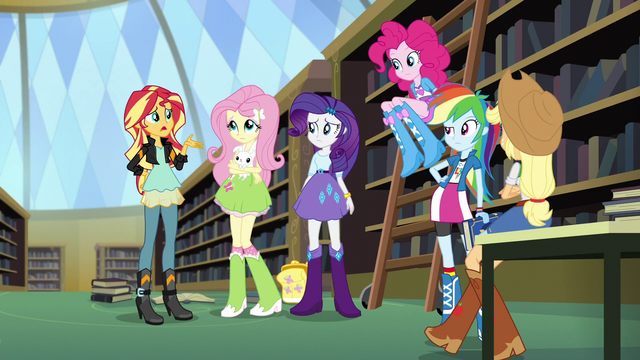 """File:Sunset Shimmer """"supposed to be about getting along"""" EG3.png"""