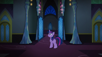 Twilight Changeling stays in the throne room area S6E25