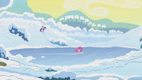 Twilight and Spike approach frozen lake S1E11