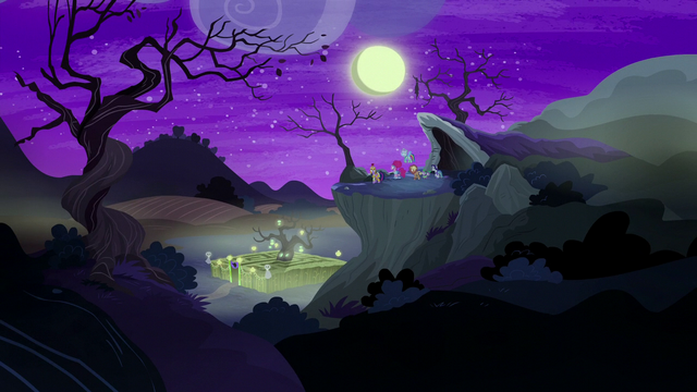 File:Main cast on a cliff near the corn maze S5E21.png