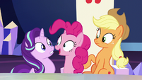 Pinkie Pie pops in once S6E1