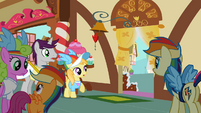 The ponies look outside S2E08