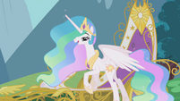 Celestia asks for Twilight's friendship report in person S1E10