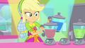 Applejack picking up a pair of blenders SS9.png