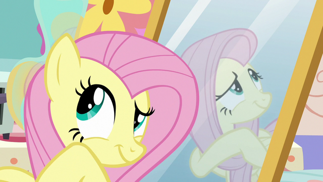 File:Fluttershy looking around Discord's house S7E12.png