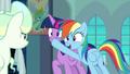 Rainbow plugs Twilight's muzzle again S6E24.png