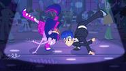 Twilight pony dancing with Flash Sentry EG